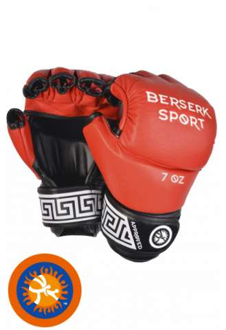 Перчатки Berserk Full for Pankration approved UWW 7 oz red винил изображение