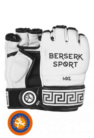 Перчатки Berserk Sport Traditional for Pankration approved UWW 4 oz white винил изображение