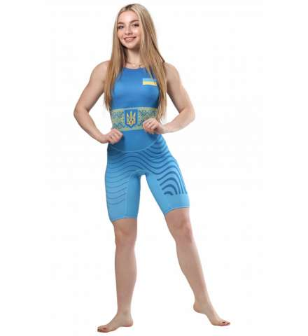 Трико для борьбы Wrestler Womens approved UWW blue (синий) изображение