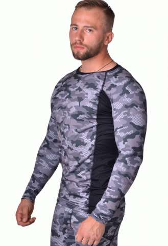 Рашгард Berserk Tactical Force Camo Grey (зеленый) изображение