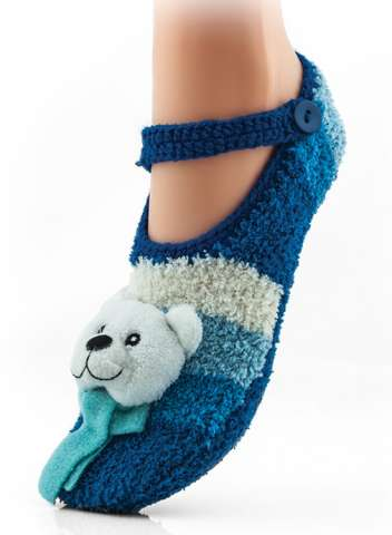 WOMAN FLUFFY SLIPPERS ABS Носки женские с ABS изображение